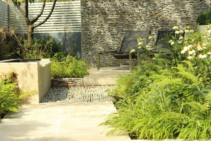 Backyard Landscaping Ideas-Dense Greenery Complemented by a Rock ...