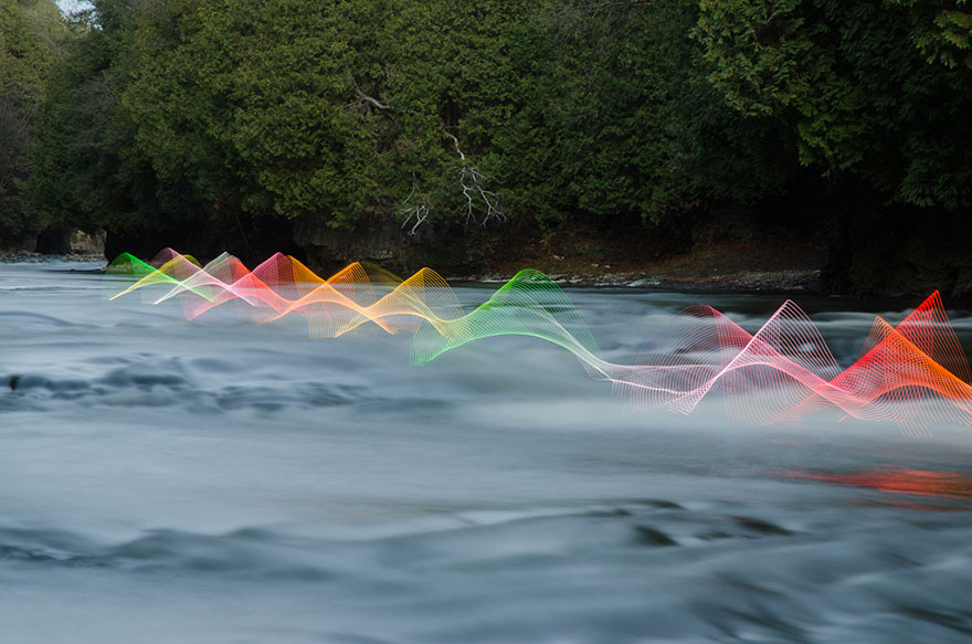 Motion Of Canoers And Kayakers Showcased Through LED Lighting In Long Exposure Photography (3)