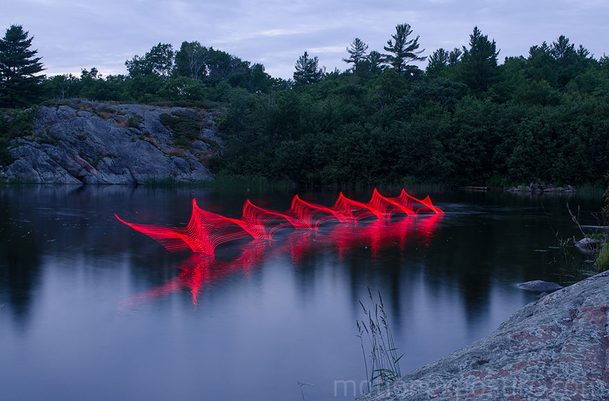 Motion Of Canoers And Kayakers Showcased Through LED Lighting In Long Exposure Photography (6)