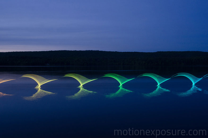Motion Of Canoers And Kayakers Showcased Through LED Lighting In Long Exposure Photography (9)