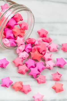 Rainbow DIY Paper Project Torn From The Sky - DIY Fold Lucky Paper Stars homesthetics (10)