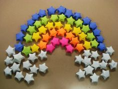 Rainbow DIY Paper Project Torn From The Sky - DIY Fold Lucky Paper Stars homesthetics (13)