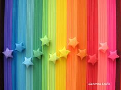 Rainbow DIY Paper Project Torn From The Sky - DIY Fold Lucky Paper Stars homesthetics (17)
