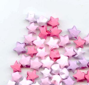 Rainbow DIY Paper Project Torn From The Sky - DIY Fold Lucky Paper Stars homesthetics (2)