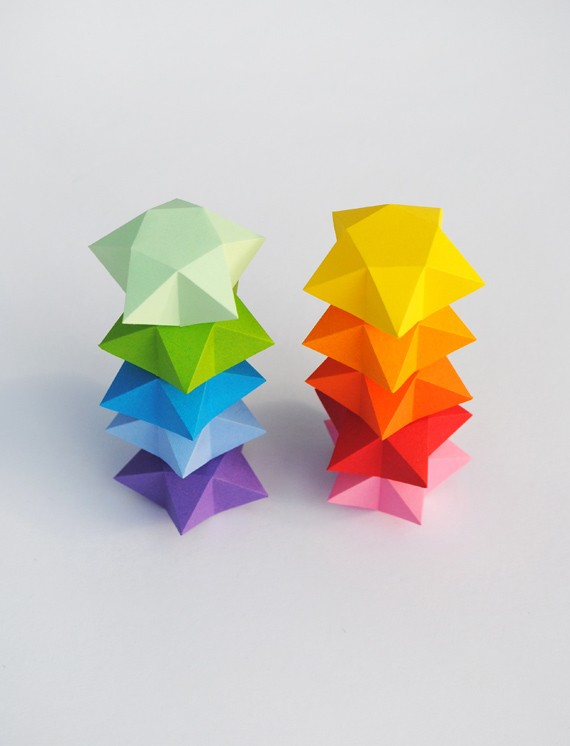 Rainbow DIY Paper Project Torn From The Sky - DIY Fold Lucky Paper Stars homesthetics (22)