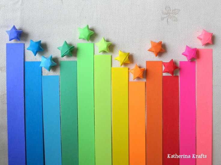 Rainbow DIY Paper Project Torn From The Sky - DIY Fold Lucky Paper Stars homesthetics (3)