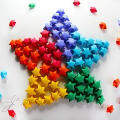Rainbow DIY Paper Project Torn From The Sky - DIY Fold Lucky Paper Stars homesthetics (7)