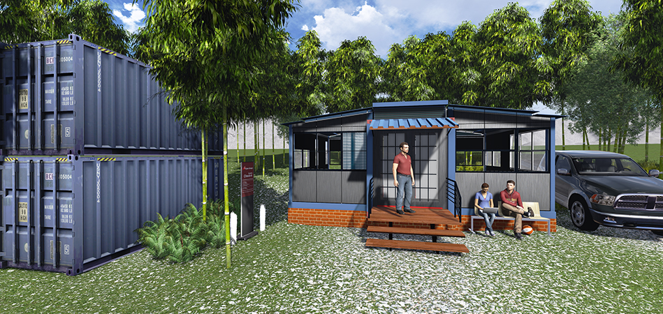 Small Container Transformed Into a Real Home-EBS Block- Expandable Building System Block homesthetics (5)