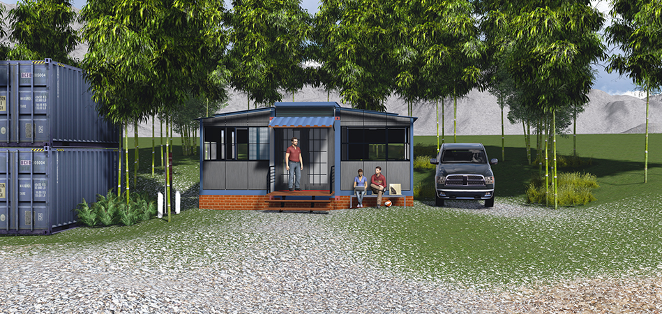 Small Container Transformed Into a Real Home-EBS Block- Expandable Building System Block homesthetics (6)