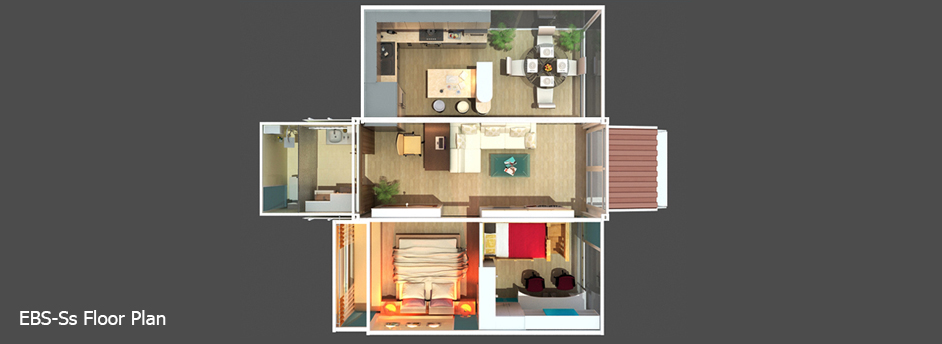 Small Container Transformed Into a Real Home-EBS Block- Expandable Building System Block homesthetics (9)