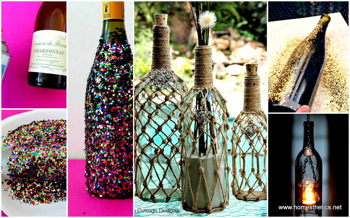 40 DIY Wine Bottle Projects And