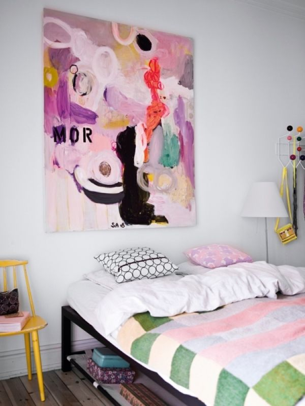 Colorful HEADBOARDS AS ARTWORK