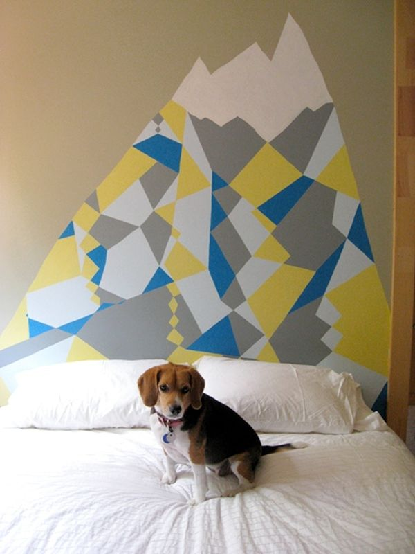 GEOMETRIC DESIGNS headboard Decal