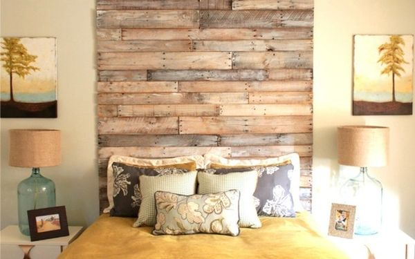 Brilliant Tall DIY Headboard With Reclaimed Wood