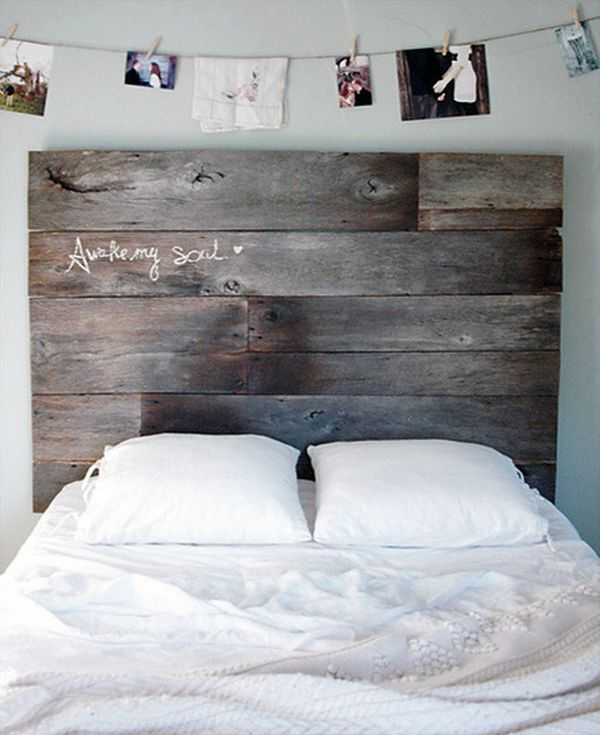 Cheap Headboard Ideas Part - 24: Reclaimed Wood Headboard DIY