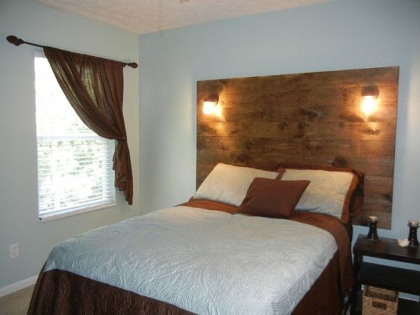 Wide DIY Reclaimed Wood Headboard