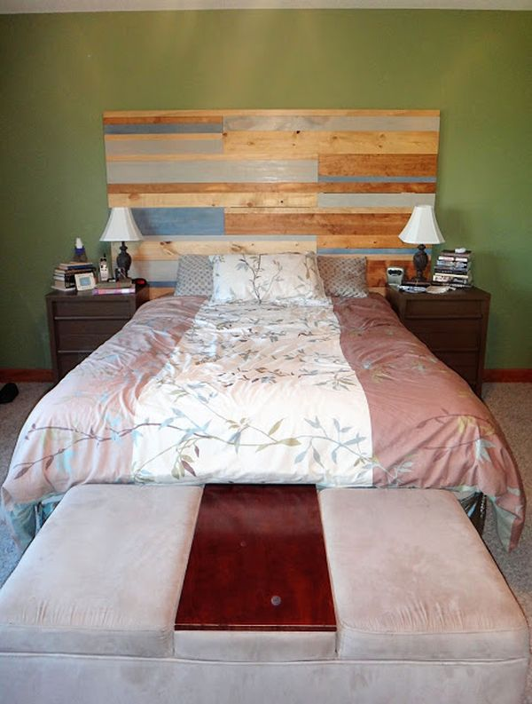 reclaimed wood do it yourself headboard