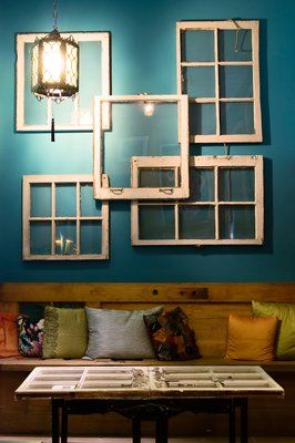 100+ Simple and Spectacular Ideas on How to Recycle Old Windows homesthetics decor (8)