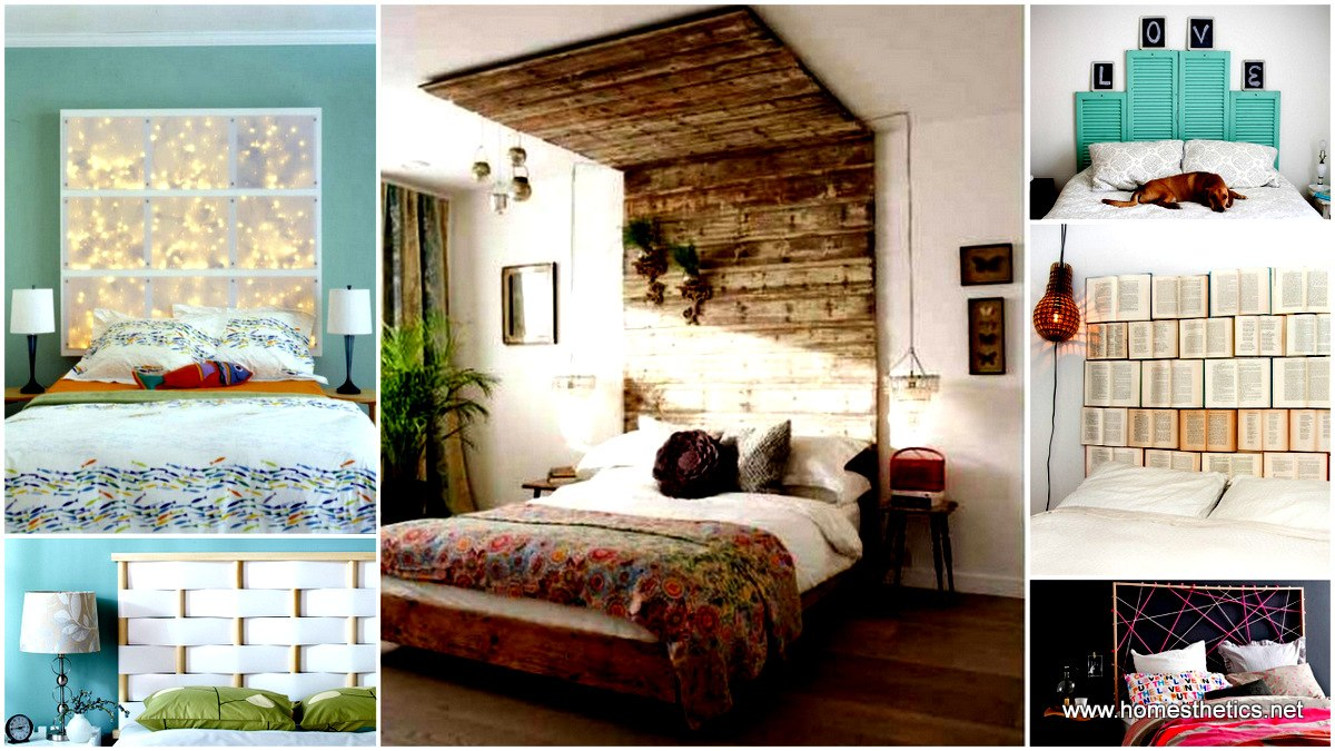 41 diy headboard projects that will change your bedroom design for Cool bed head ideas