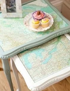 Use Old Maps to Add a Vintage Touch In Any Decor