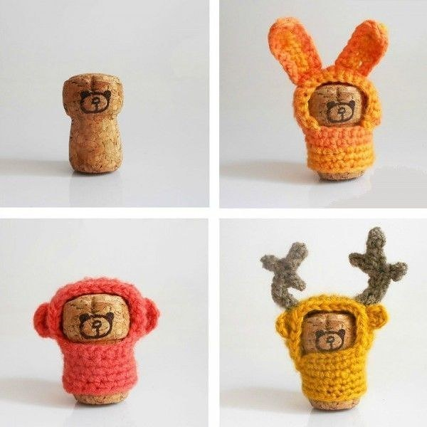 #11 - SUPERB KNITTED CORK TOYS