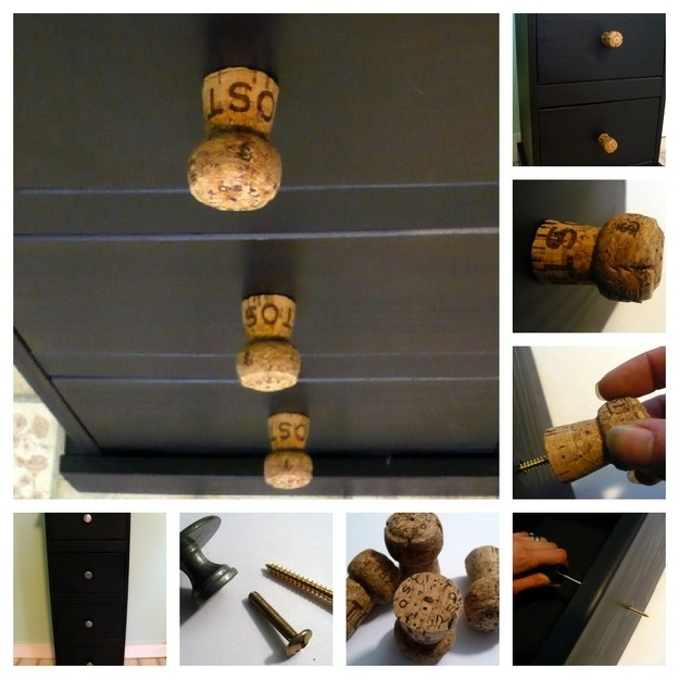 #17- USE CORKS AS KNOBS ON DRAWERS