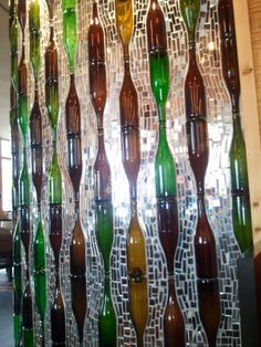 32 Insanely Beautiful Upcycling Projects For Your Home -Recycled Glass Bottle Projects homesthetics decor (16)