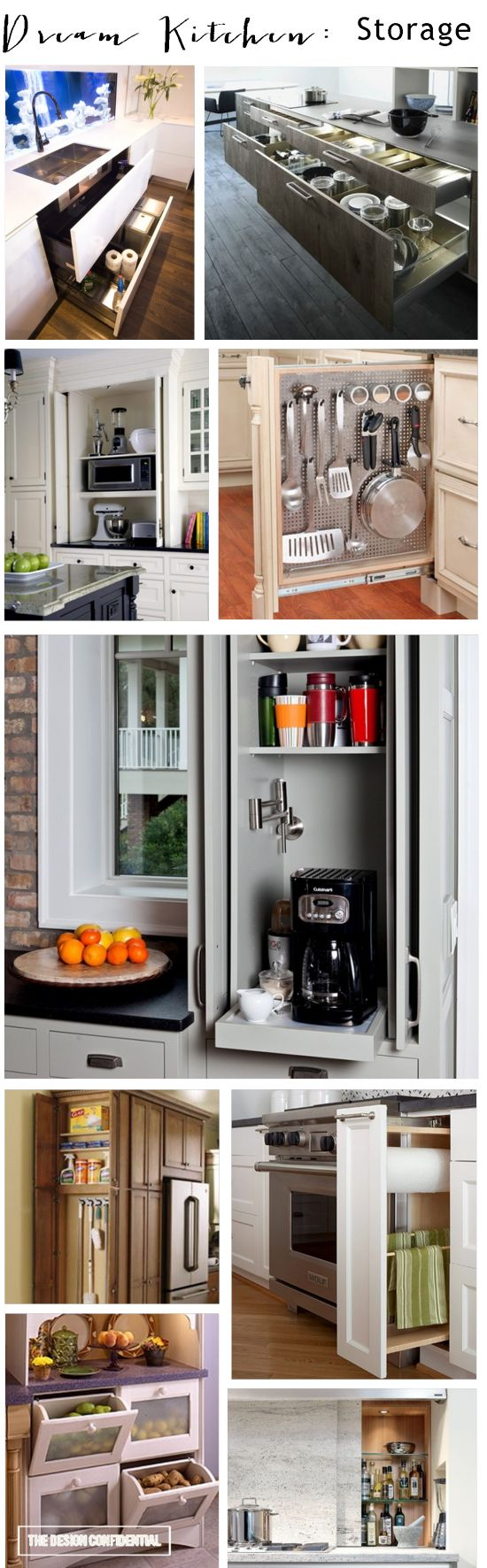 40 clever storage ideas that will enlarge your space for Clever kitchen ideas