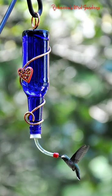 Realize a Glass Bottle Birdfeeder