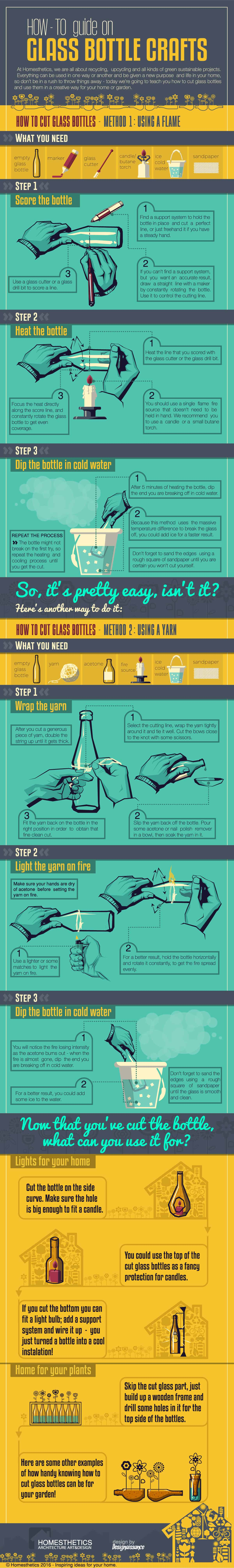 44 Simple DIY Wine Bottles Crafts And Ideas On How To Cut Glass P991S homesthetics