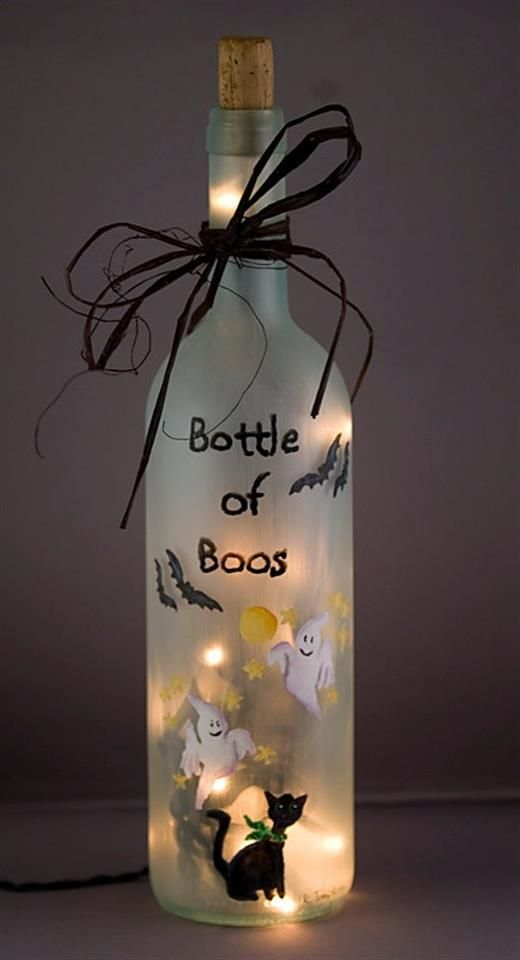Wine Bottle Crafts Part - 20: Halloween Wine Bottles Crafts And Ideas