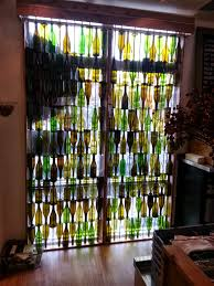 wine bottle curtain filtering light