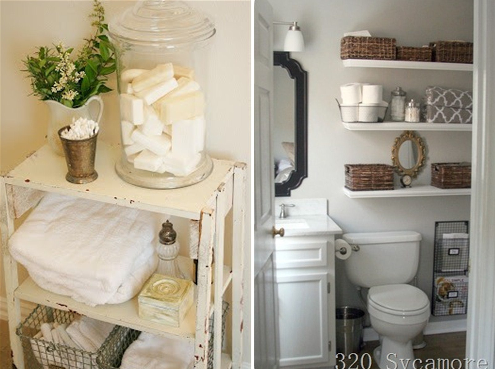 Add Glamour With Small Vintage Bathroom Ideas (16)
