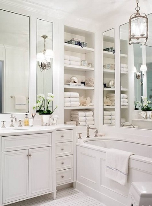 Add Glamour With Small Vintage Bathroom Ideas 25