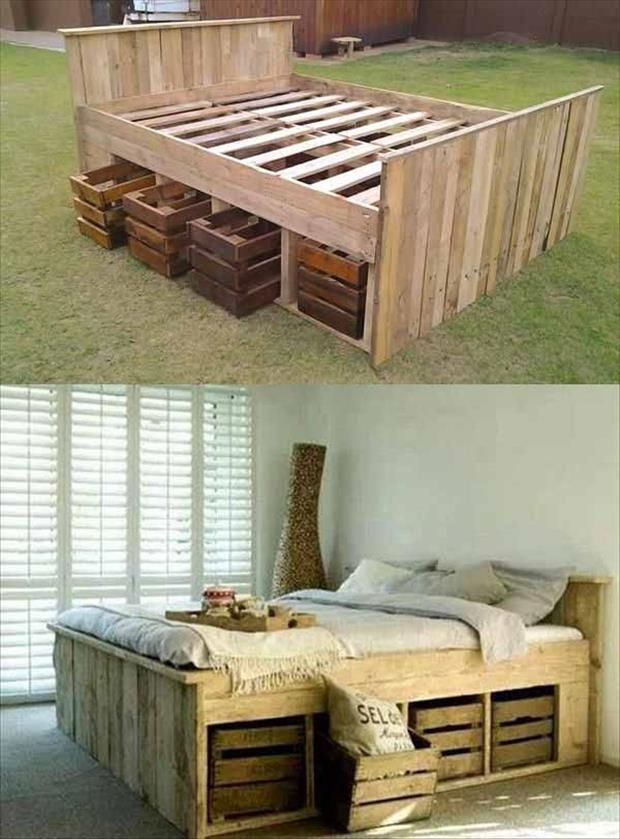 Creatively Recycling Ideas-Top 20 DIY Pallet Beds -homesthetics (6)