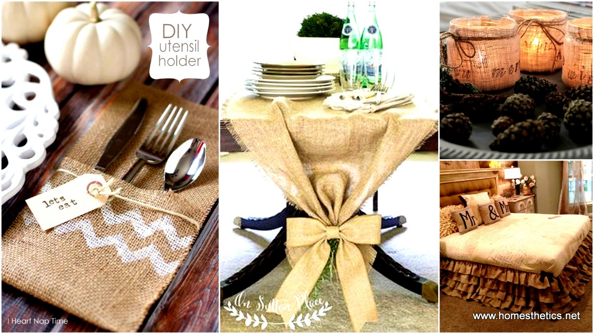 60 Burlap DIY Projects That Will Add Coziness and Health to Your Shelter