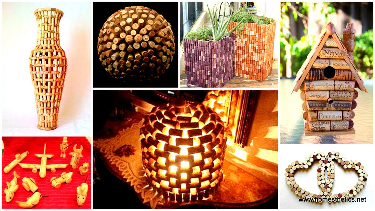 35 clever and creative diy cork crafts that will enhance for Diy handicraft items