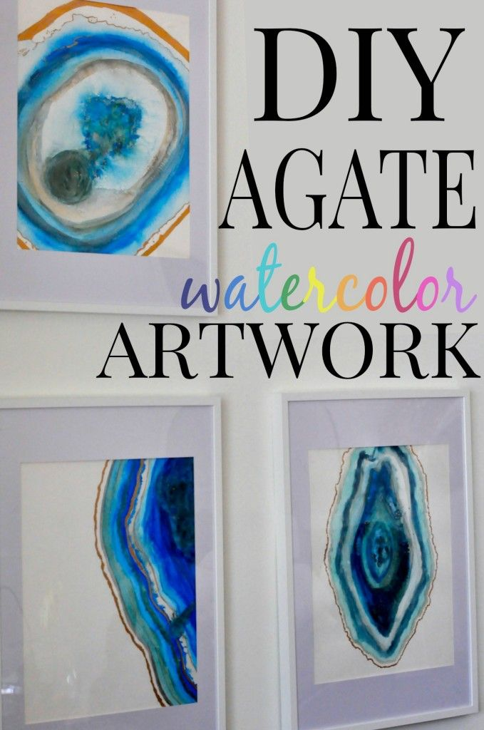 8.DIY AGATE WATERCOLOR ART