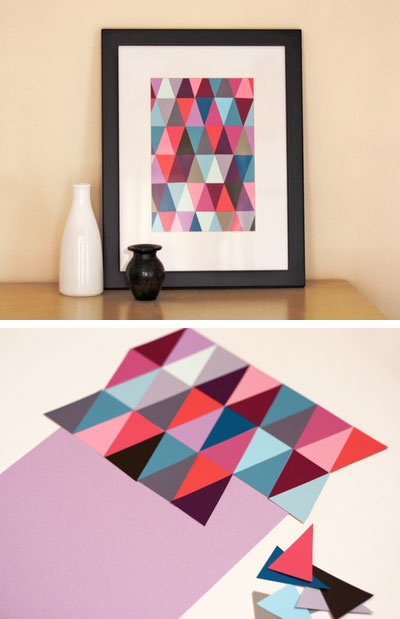 17.COLOR CHIP WALL ART