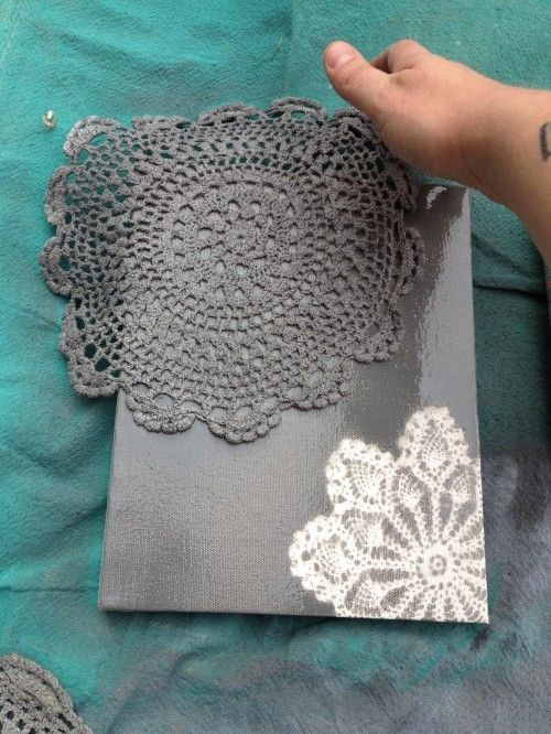 24.USE A DOILY AND SPRAY PAINT