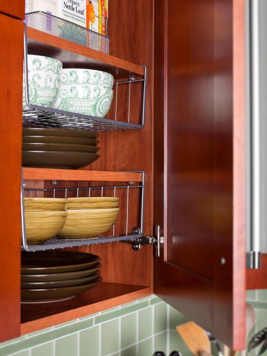 How to add extra storage space to your small kitchen - Make cabinet scratch extra storage space ...