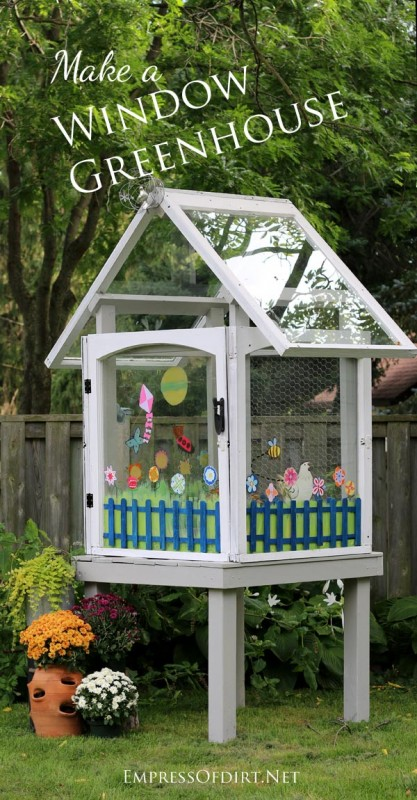How to Use Old Windows In Your Garden and Yard homesthetics decor (2)