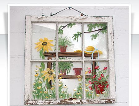 Ideas for Using Salvaged Windows With Wooden Sashed Panels homesthetics decor (16)