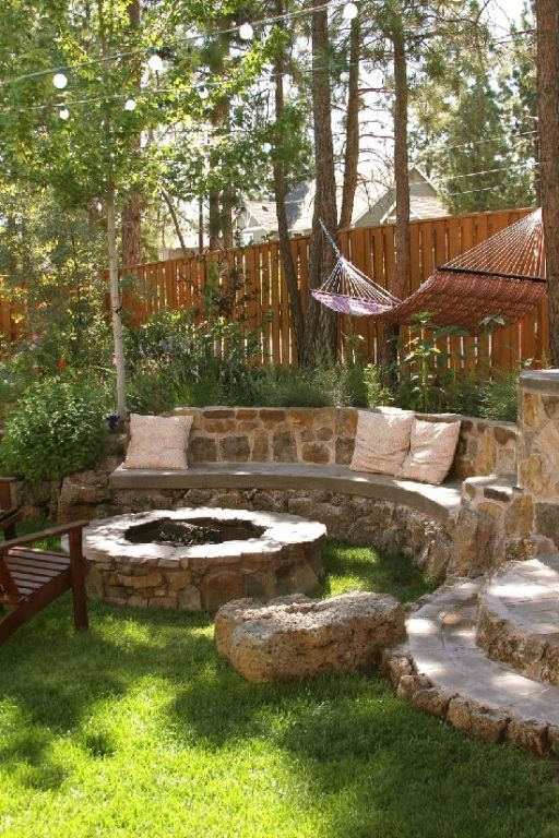 Plan Your Backyard Landscaping Design Ahead With These 35 Smart DIY Fire Pit Projects homesthetics backyard designs (23)