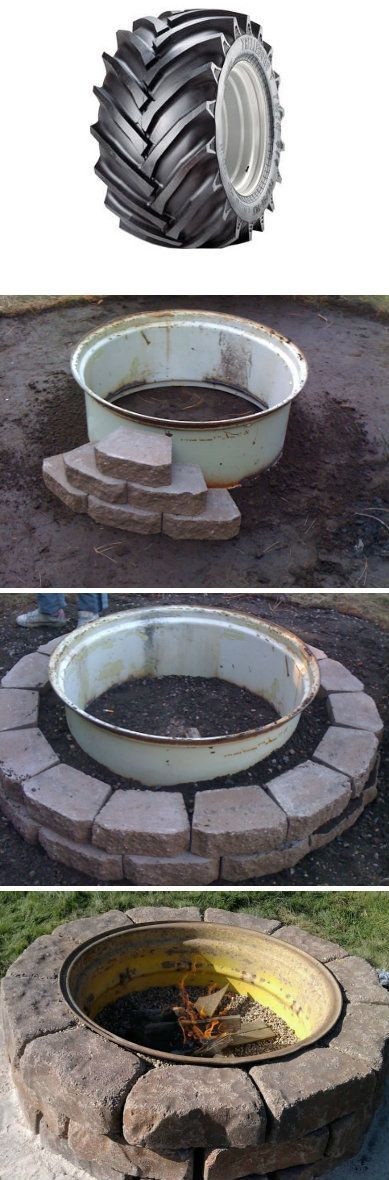 Plan Your Backyard Landscaping Design Ahead With These 35 Smart DIY Fire Pit Projects homesthetics backyard designs (26)