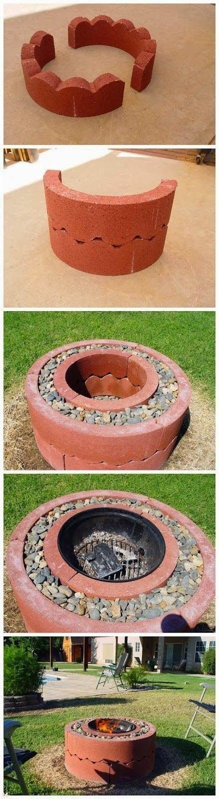 Plan Your Backyard Landscaping Design Ahead With These 35 Smart DIY Fire Pit Projects homesthetics backyard designs (4)