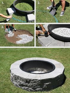 Plan Your Backyard Landscaping Design Ahead With These 35 Smart DIY Fire Pit Projects homesthetics backyard designs (5)