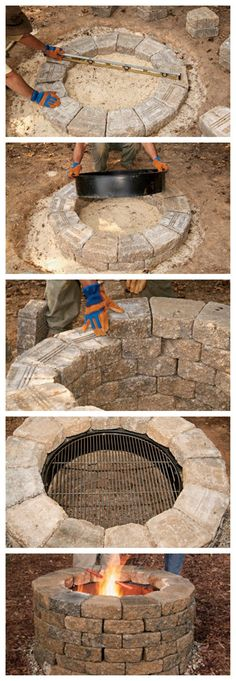 Plan Your Backyard Landscaping Design Ahead With These 35 Smart DIY Fire Pit Projects homesthetics backyard designs (7)