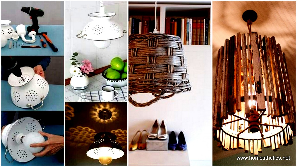 Recycle old items into diy budget lighting projects that for Decoration items made at home