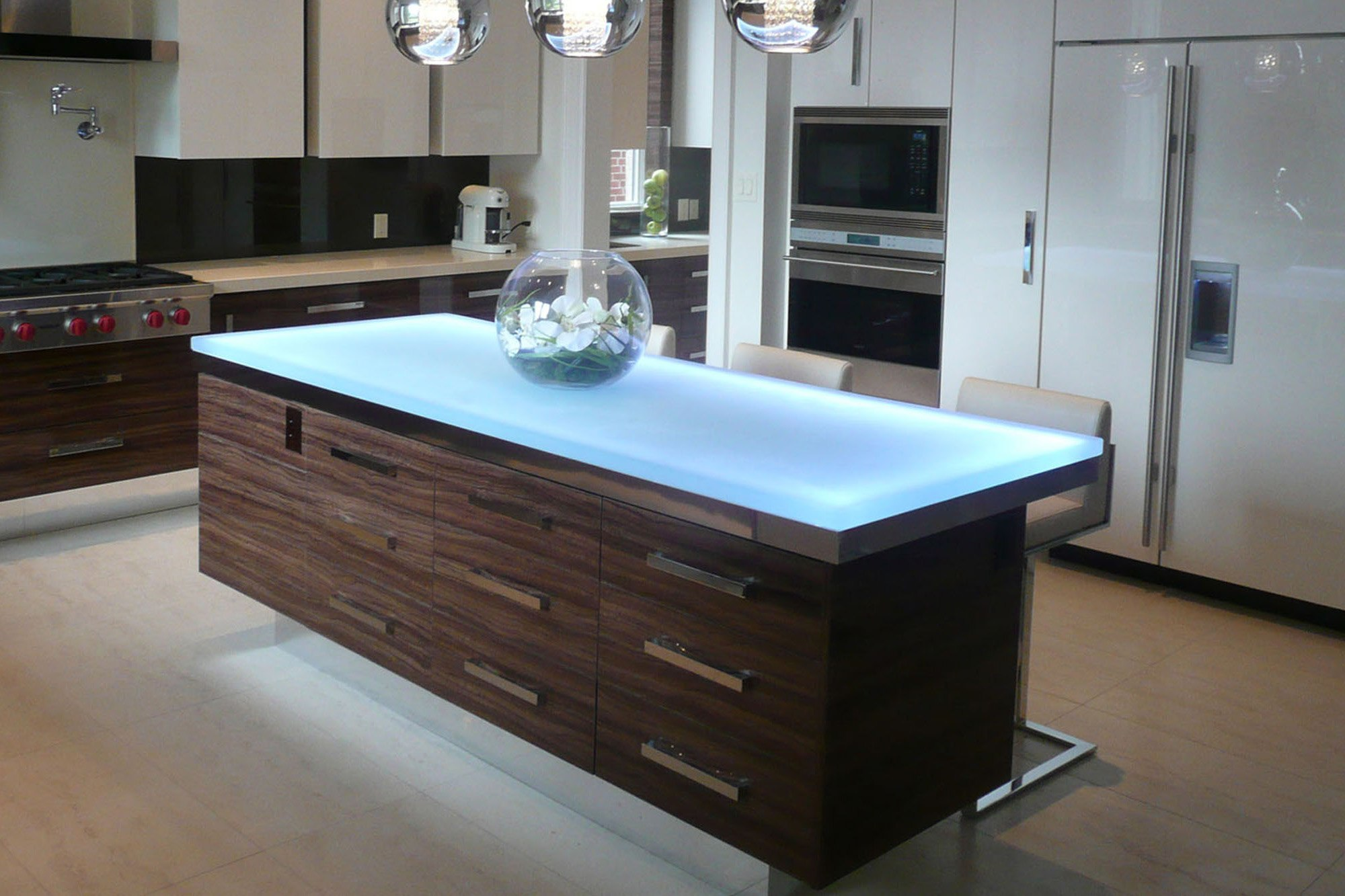 The Ultimate Luxury Touch For Your Kitchen Decor - Glass ... on Counter Top Decor  id=12298